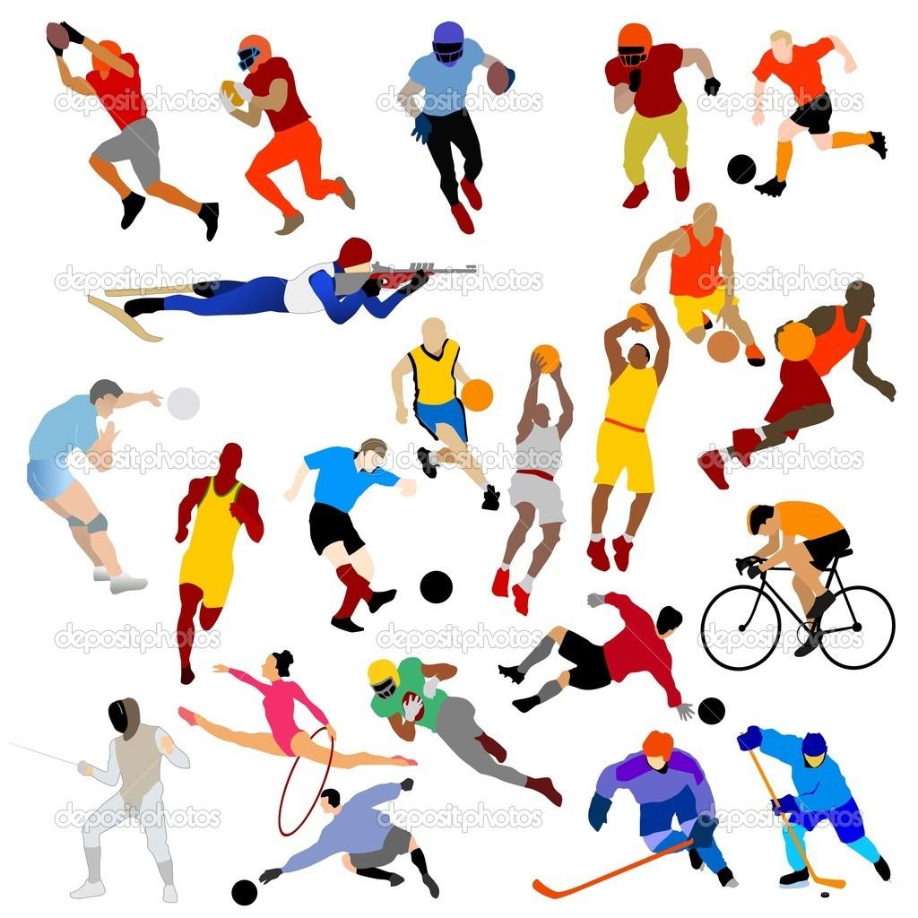 1024x1024 Colored vector sport clip art Clipart Panda