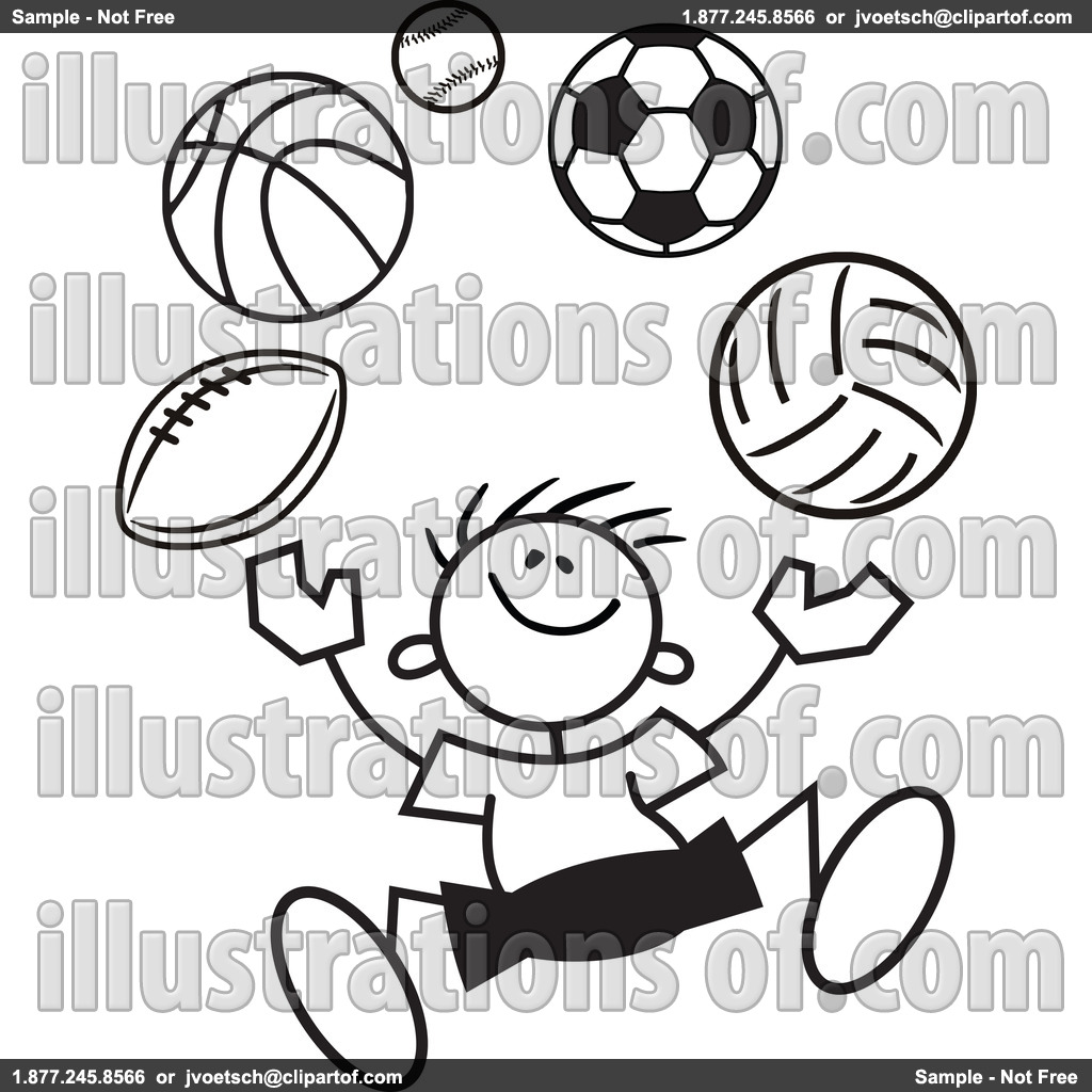 1024x1024 Sports Clipart Black And White