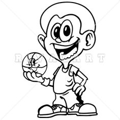 236x236 Kids Playing Sports Clipart Black And White