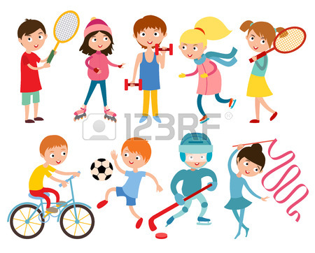 450x362 Sport Kids Characters With Toys And Sport Kids Activity Group