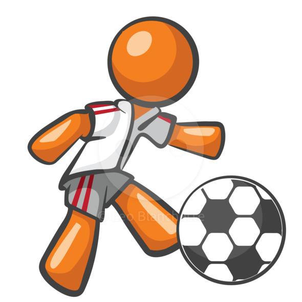 590x590 Free Kicking Soccer Ball Clip Art Image