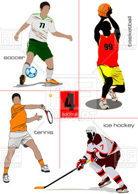 285x400 Kinds Of Sport Games Soccer, Ice Hockey, Tennis, And Basketball