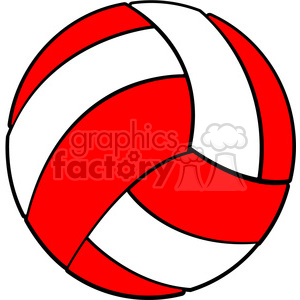 300x300 Royalty Free Sports Equipment Red White Volleyball 398122 Vector