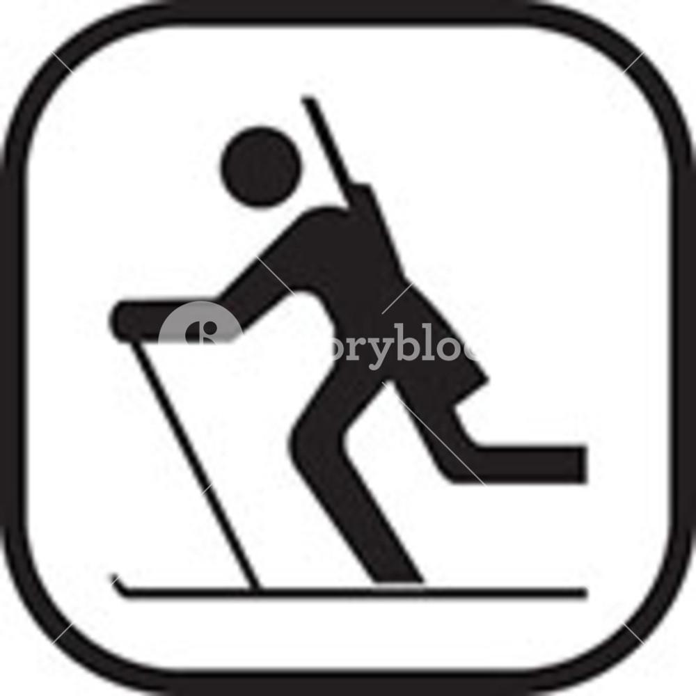 1000x1000 Skiing Clip Art Royalty Free Stock Image