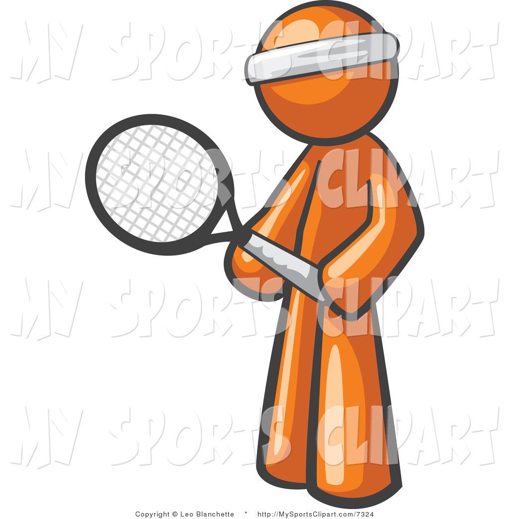 1024x1044 Sports Clip Art Of A Orange Tennis Player By Leo Blanchette
