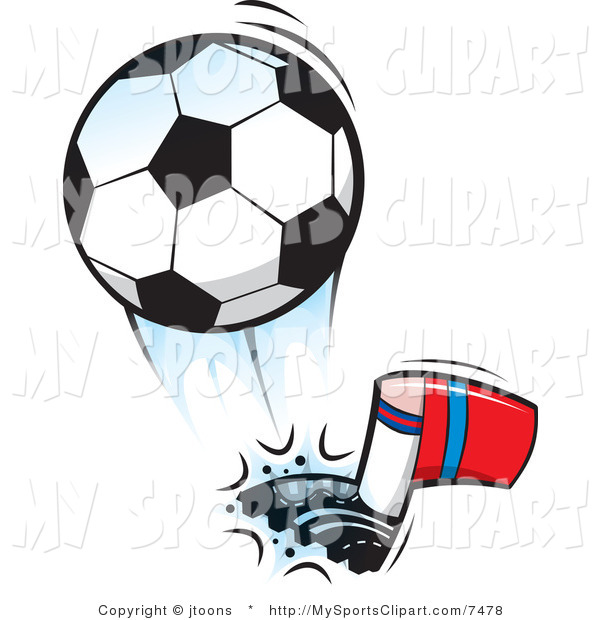 600x620 Sports Clip Art Of A Soccer Ball Being Kicked By Jtoons