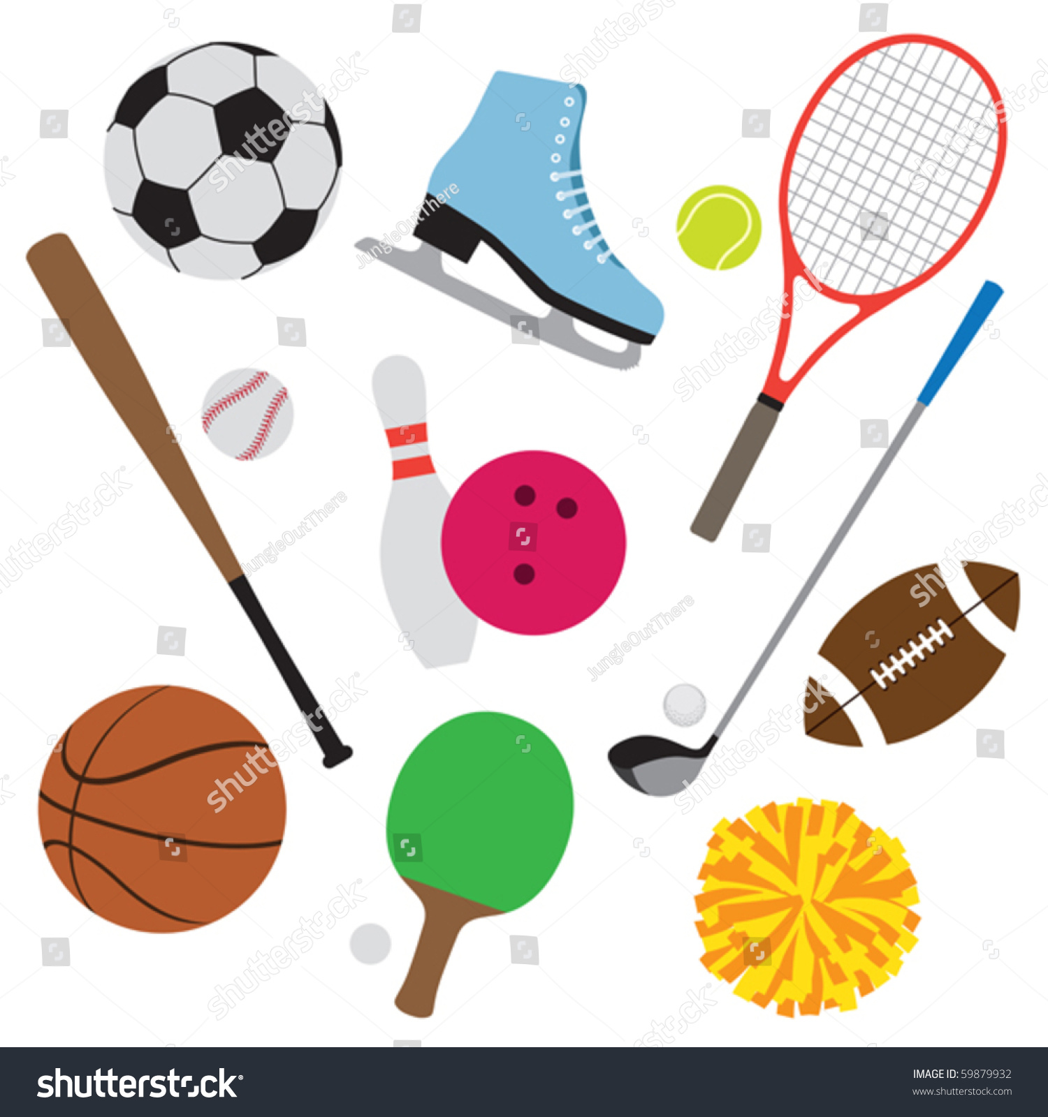 Sports equipment. Sporting clipart free download