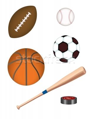 309x400 Equipment Clipart 1213089 Stock Photo Realistic Sports Equipment