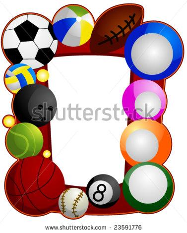 377x470 Sport Ball Border Clipart