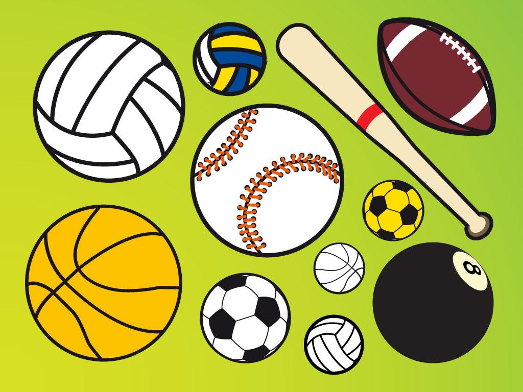 1024x768 Sport Balls Vectors