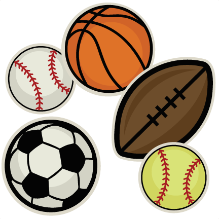 432x432 Sports Ball Collection SVG cutting file for scrapbooking sports