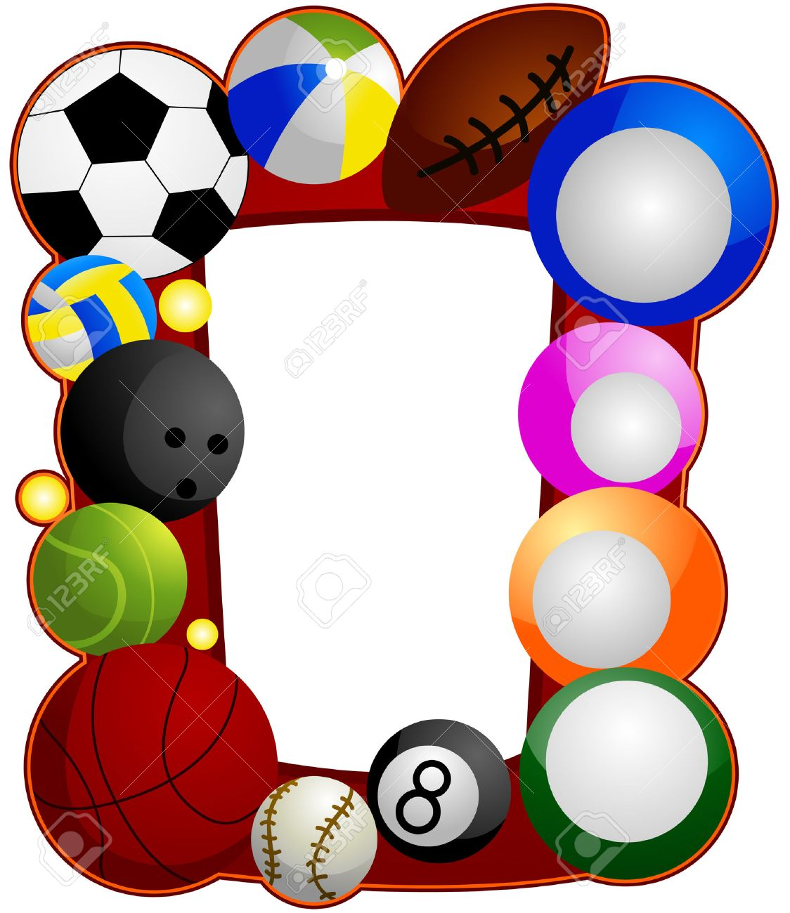 1124x1300 Balls Collage Clipart
