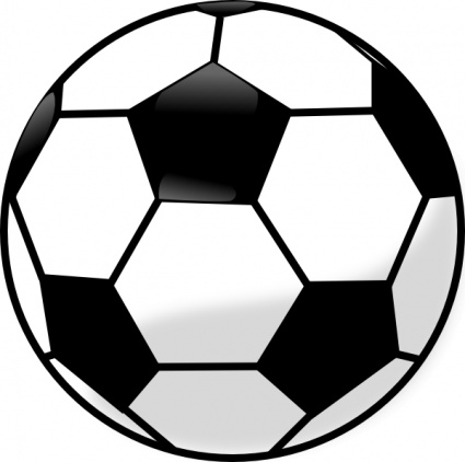 425x422 Black Outline Drawing Soccer Silhouette Sport White Cartoon Ball