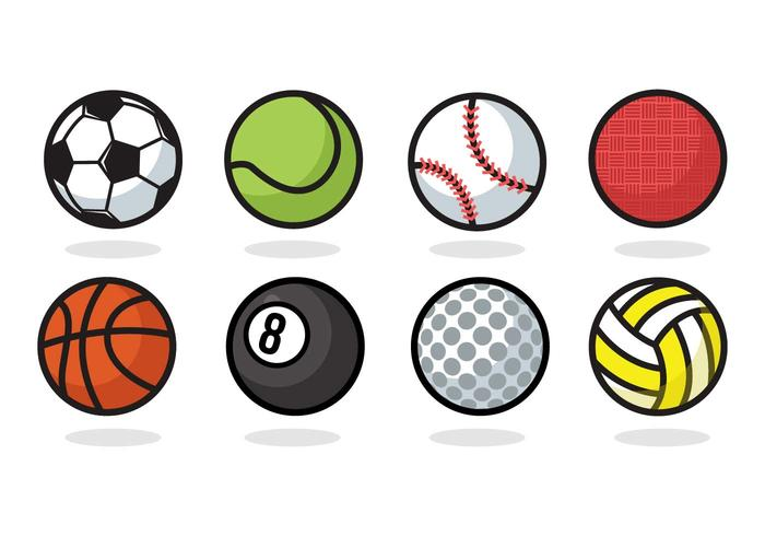 700x490 Free Sport Ball Icons Vector