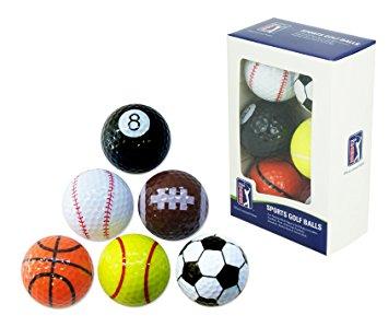 355x299 Pga Tour Novelty Fun Sports Golf Balls (Set Of 6) Amazon.co.uk