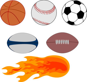 300x284 Sports Balls Royalty Free Stock Image