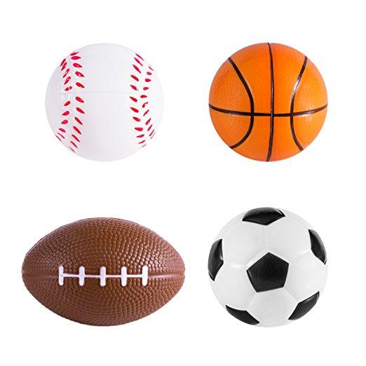 522x522 Sports Themed Mini Stress Balls Squeeze Foam
