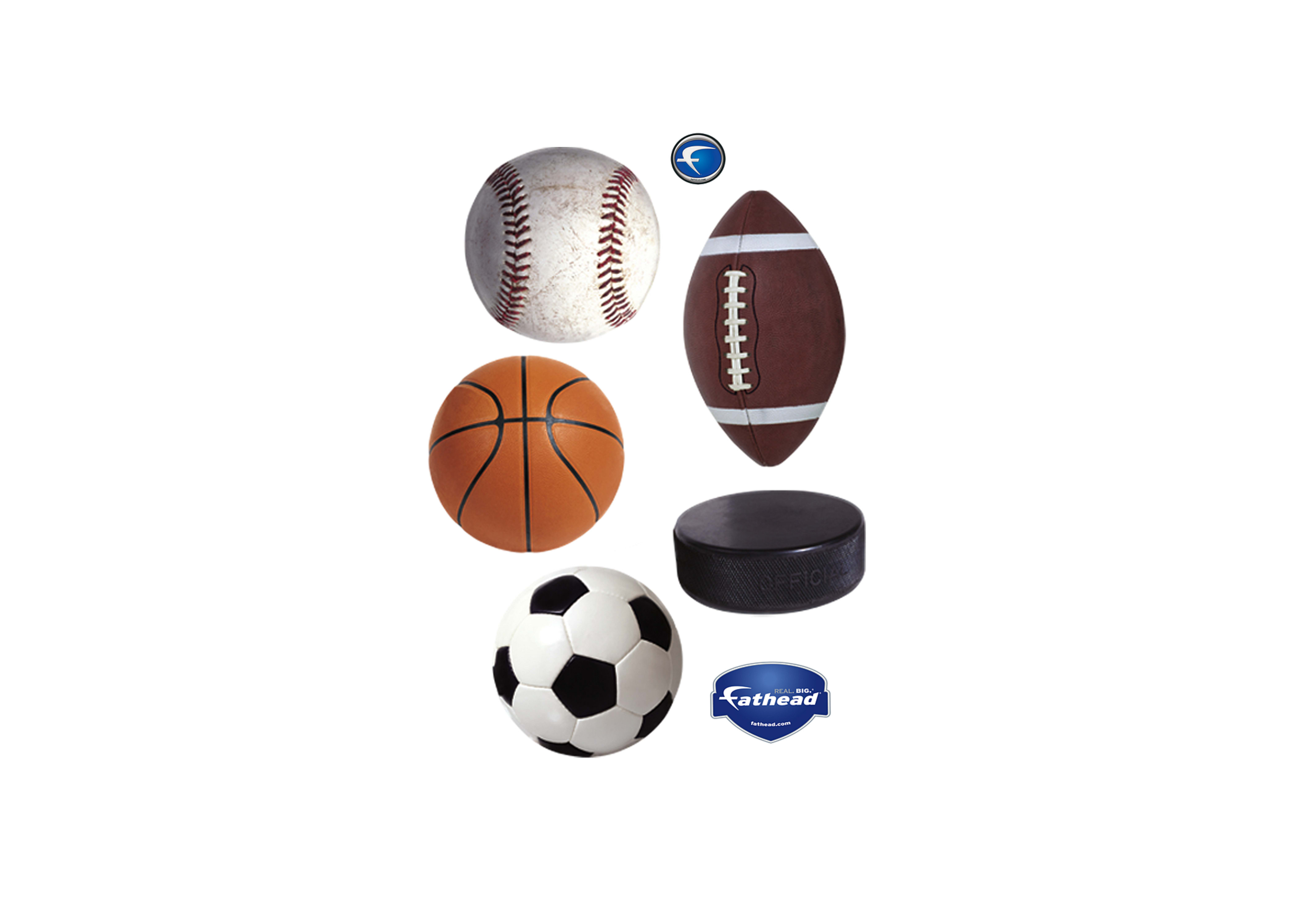 4225x3000 Assorted Sports Ball Graphics Wall Decal Shop