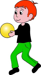 167x300 Boy Doing Sports Clipart Image