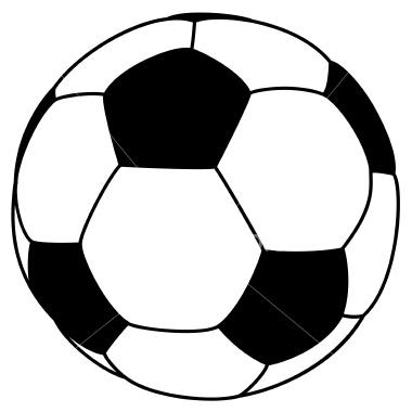 380x380 Free Printable Soccer Ball Clip Art