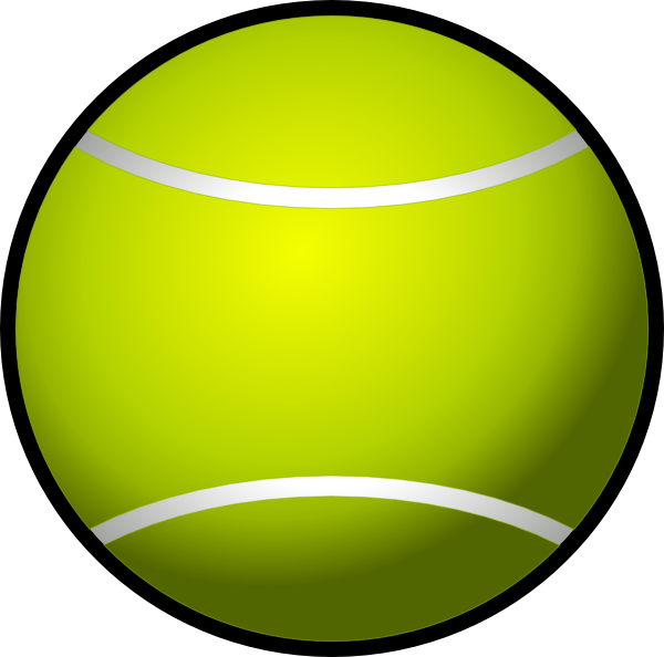 600x594 Simple Tennis Ball Clip Art Free Vector 4vector