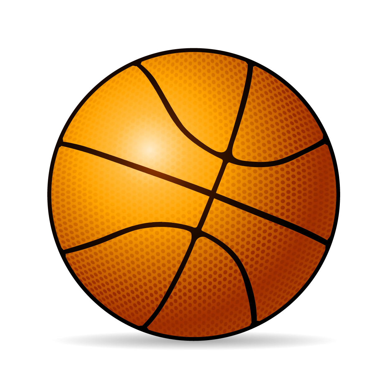 1250x1250 Ball Clipart Cartoon Basketball