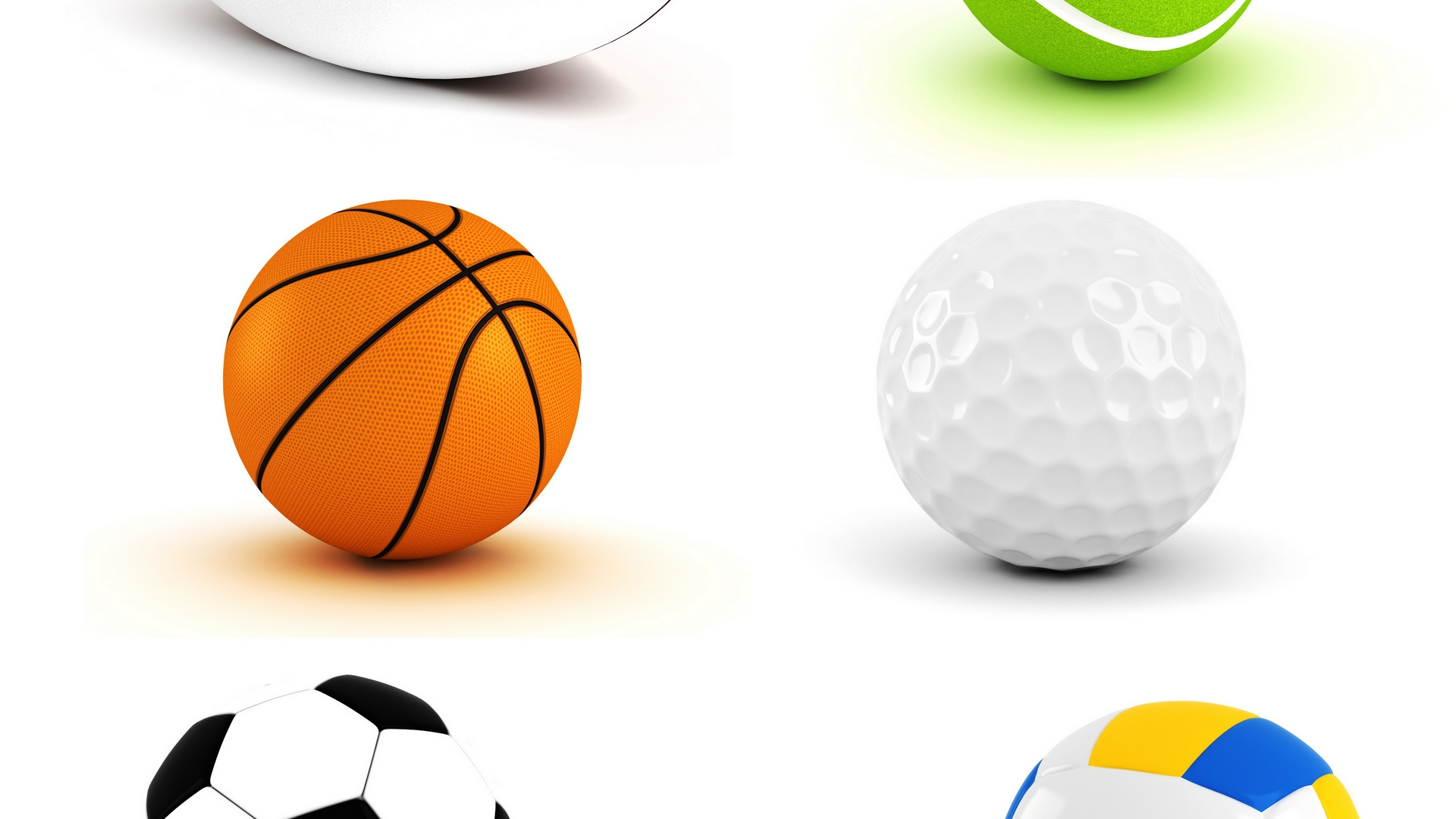 1920x1080 Collage Clipart Sports Ball