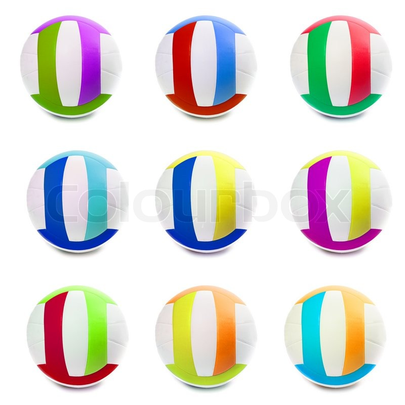 800x800 Colorful Sports Balls Color In Different Countries. Isolated