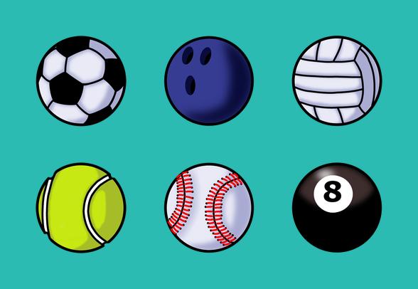 588x406 Iconsetsports Balls Icons