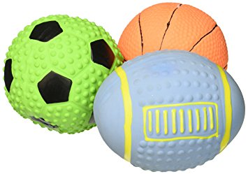 355x249 Pet Supplies Gnawsome Latex Sports Balls For Dogs, Set Of 3