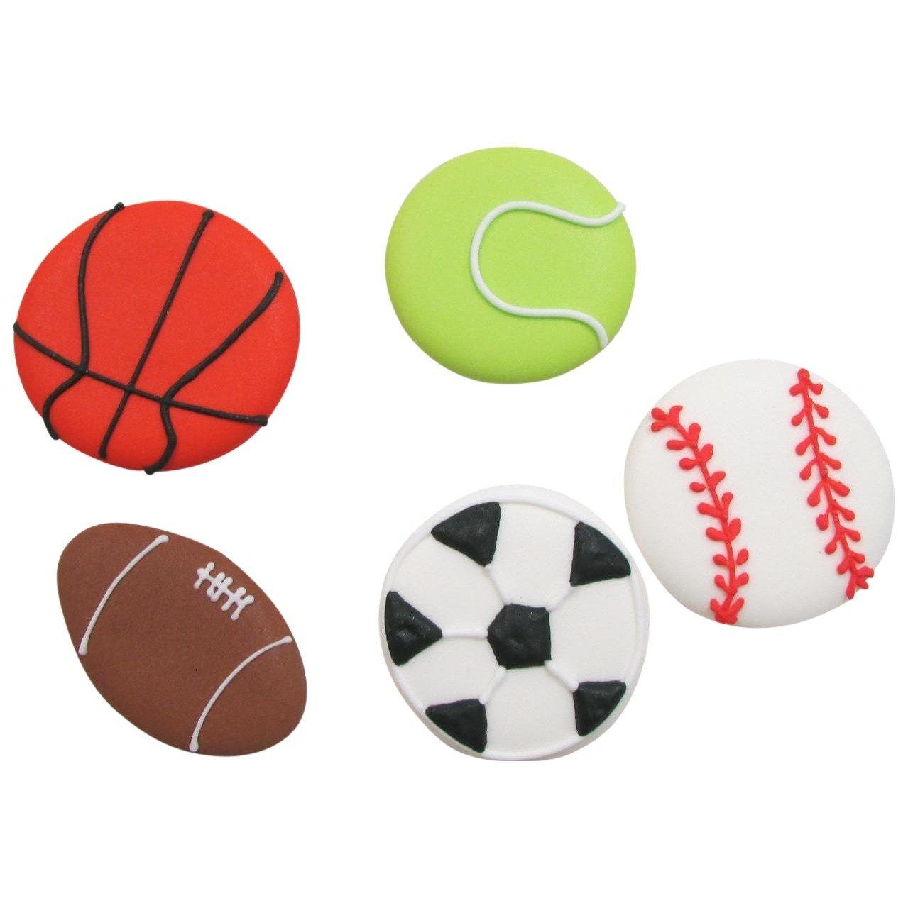 1279x1280 Royal Icing Sports Balls Assortment (55 Per Box)