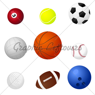 325x325 Set Of Different Sports Balls Gl Stock Images