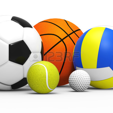 450x450 Sports Balls On Grass Stock Photo, Picture And Royalty Free Image