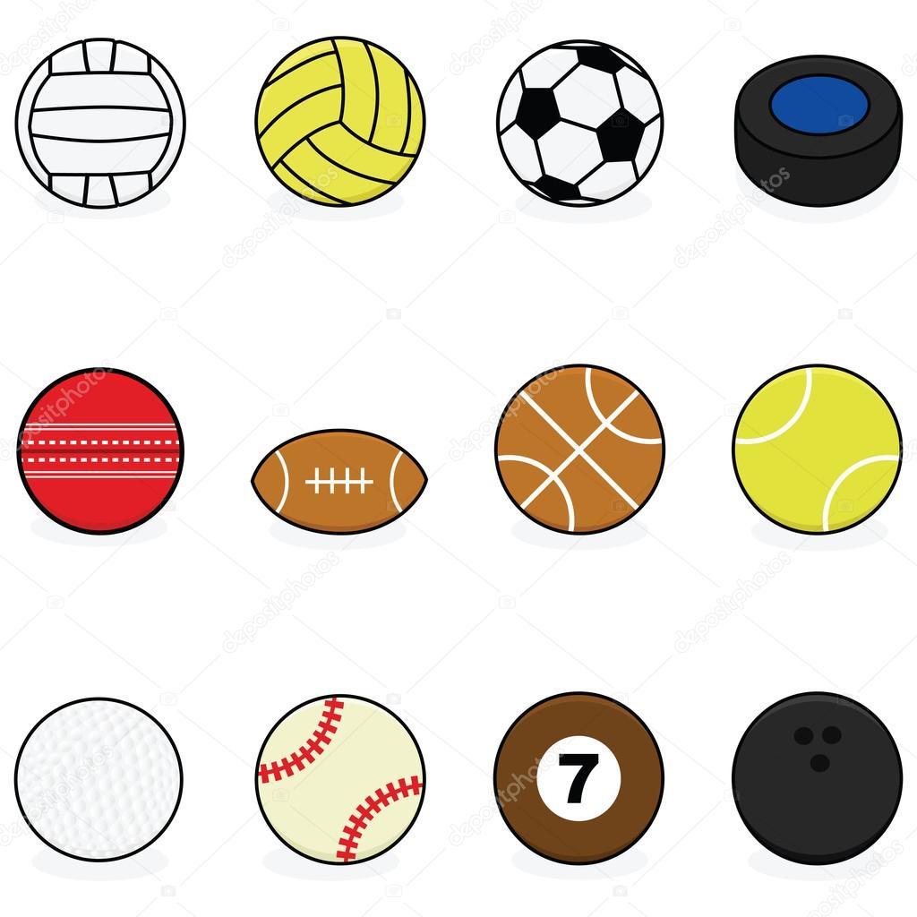 1024x1024 Sports Balls Stock Vector Bruno1998