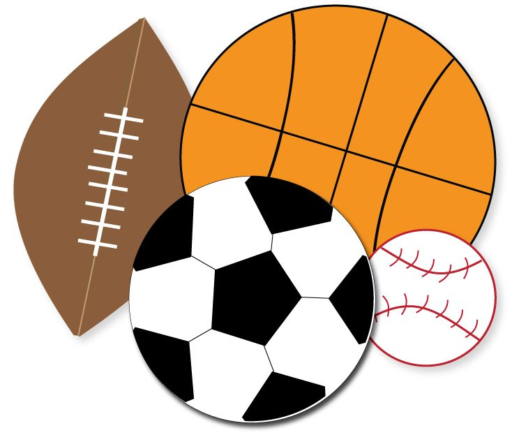 734x623 Free Sports Clipart Sports Party