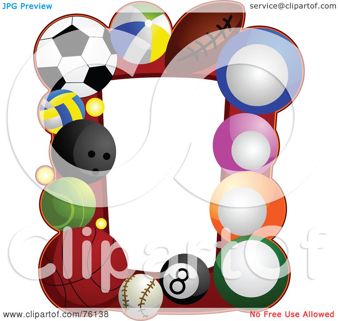 1080x1024 Sports Balls Clipart Borders Royalty Free Rf Clipart Illustration