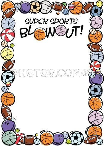 Sports border. Clipart free download best
