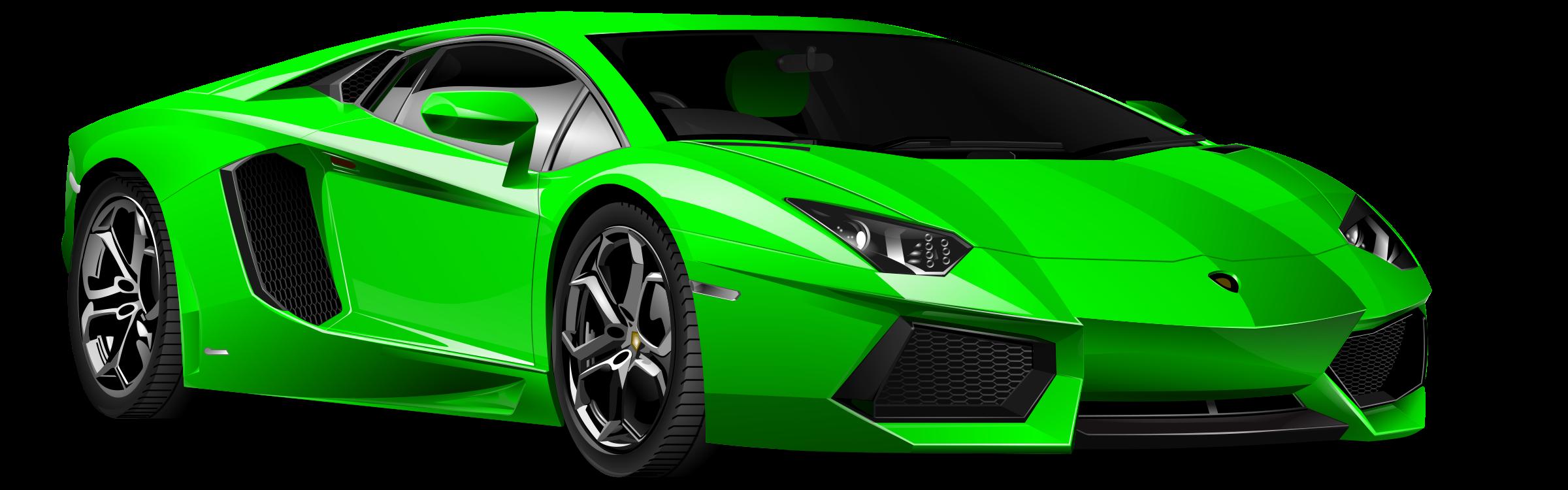 2400x750 Green Car Clipart