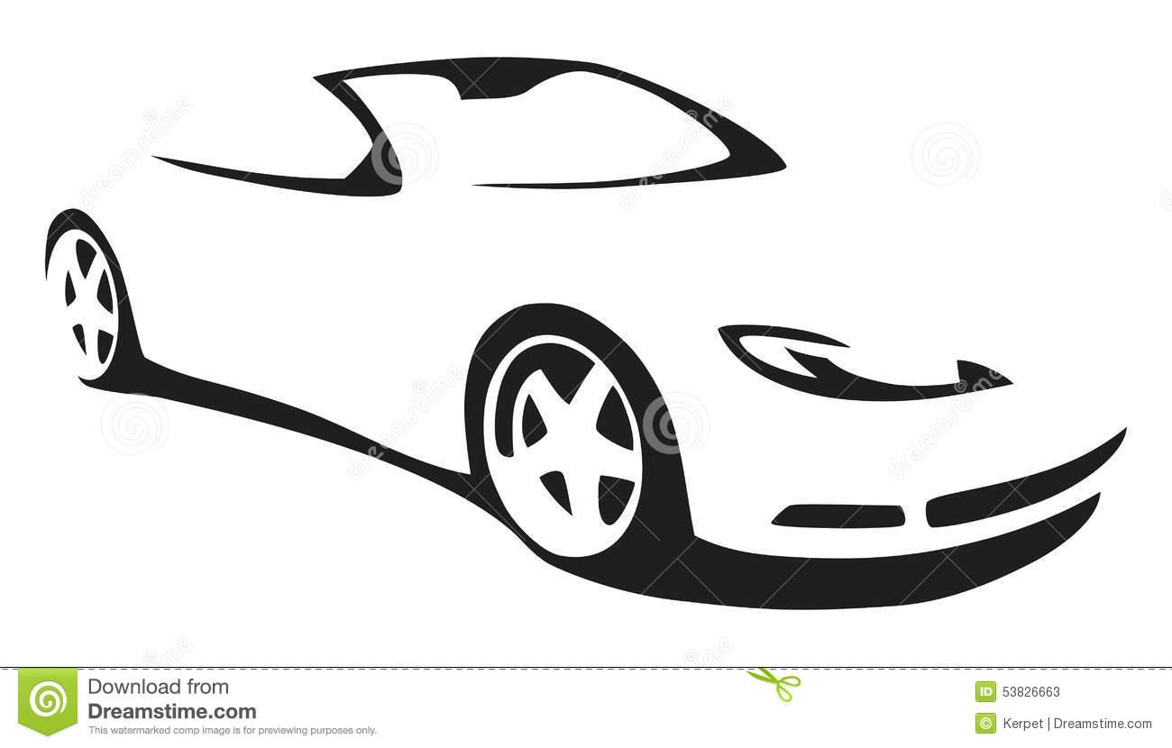 1300x830 Sports Car Silhouette Clip Art Cliparts
