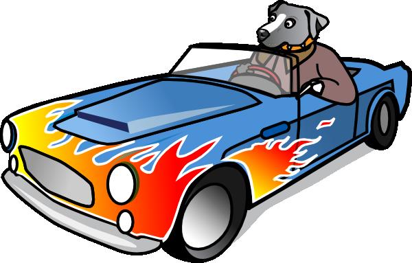 600x383 Dog In Sports Car Clip Art