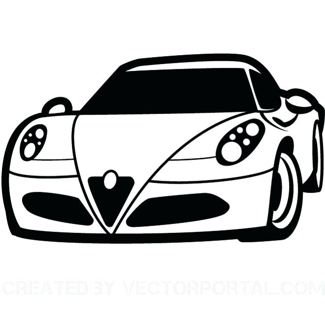 660x660 Sports Car Clipart Car Black And White A Car Black And White 2