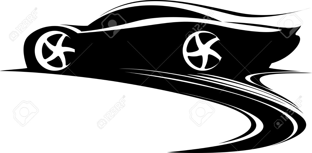Sports Car Clipart Black And White Free Download Best Sports Car
