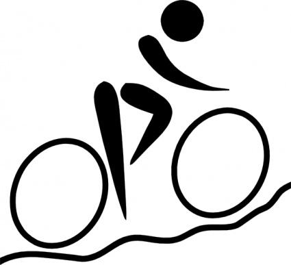 425x387 Olympic Sports Cycling Mountain Biking Pictogram Clip Art Vector