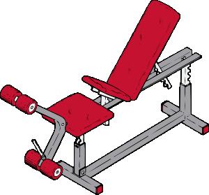 300x279 Exercise Bench Clip Art