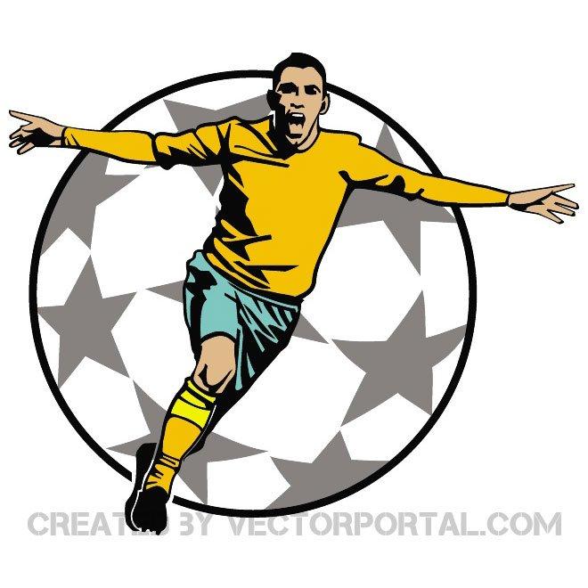 660x660 Goal Celebration Vector Clip Art.eps, Vector Images