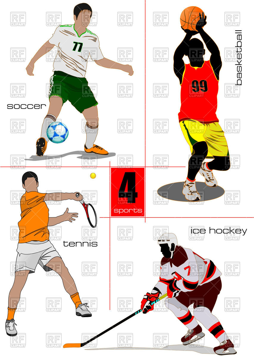 854x1200 Kinds Of Sport Games Soccer, Ice Hockey, Tennis, And Basketball