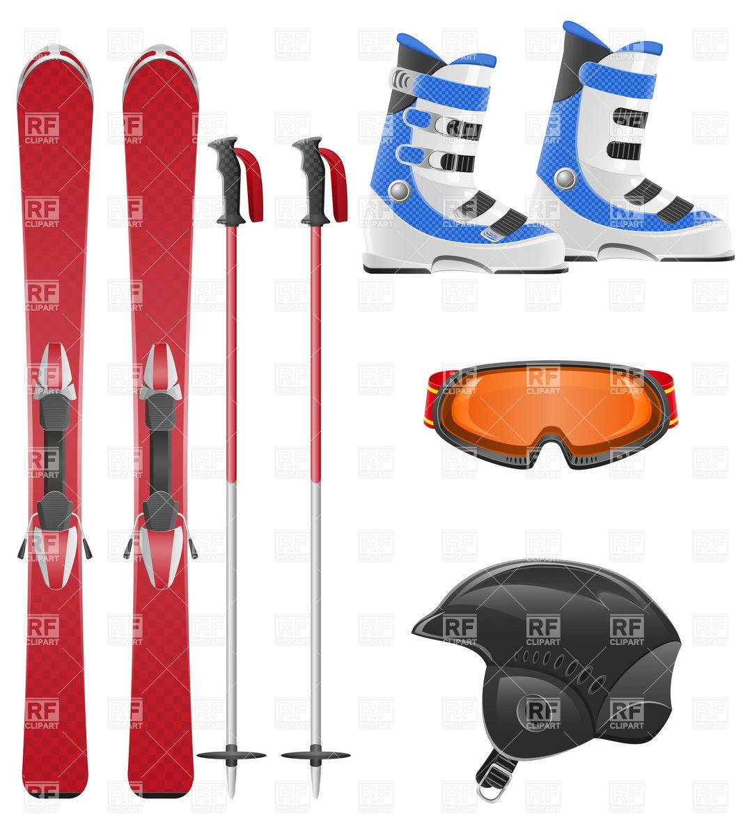 1067x1200 Ski Equipment Icon Set Royalty Free Vector Clip Art Image