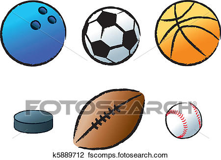 450x327 Clipart Of Various Sports K5889712