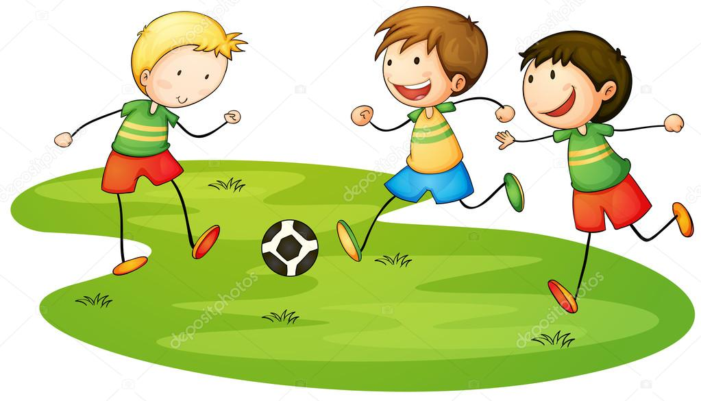 1023x585 Kids Playing Sports Stock Vectors, Royalty Free Kids Playing