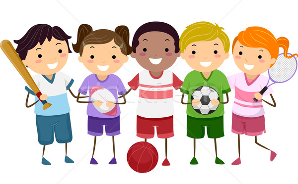 600x372 Sports Kids Vector Illustration Lenm ( 4817246) Stockfresh